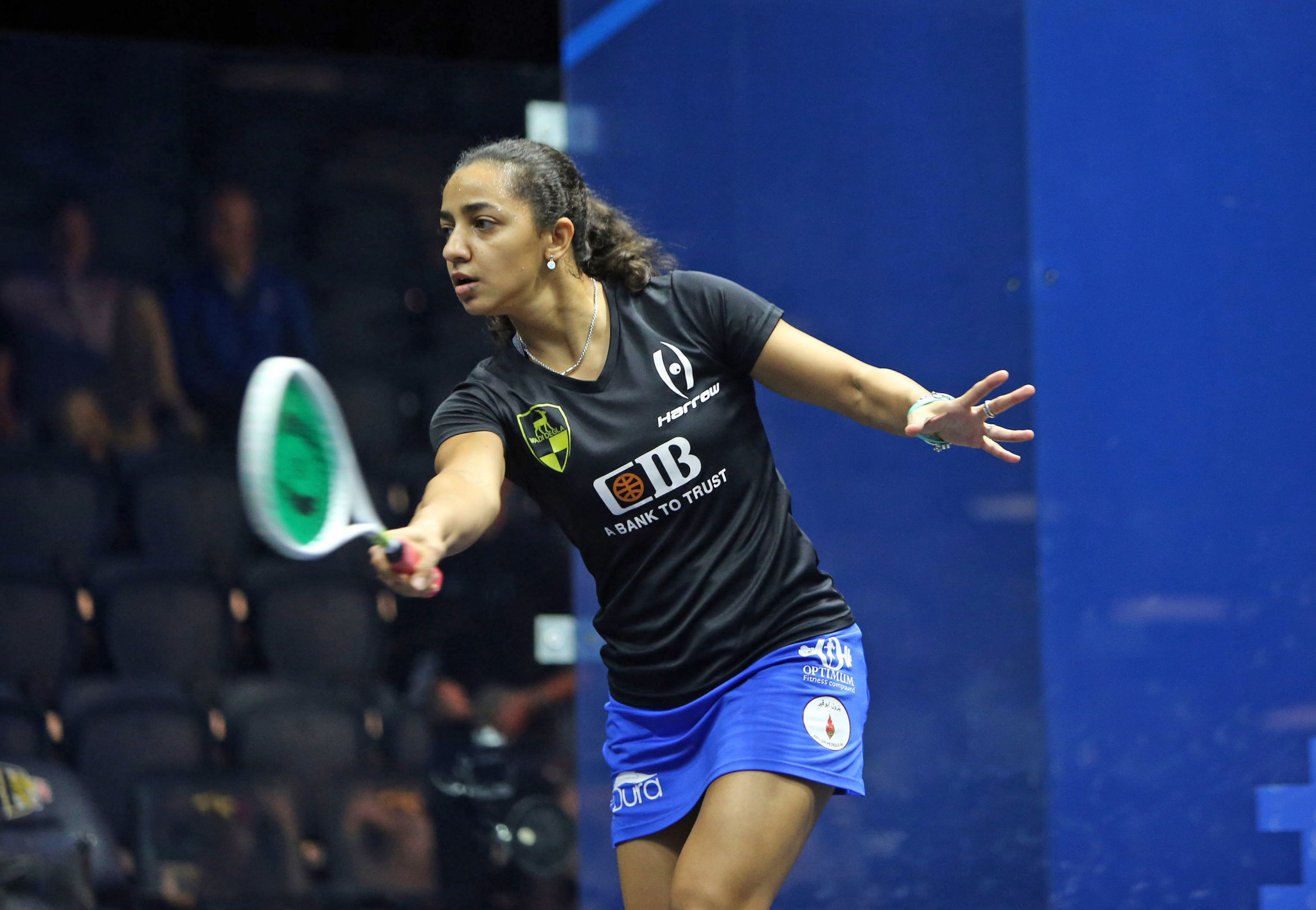Egyptian world number one Raneem El Welily needed just 23 minutes to book her place in round three ©PSA