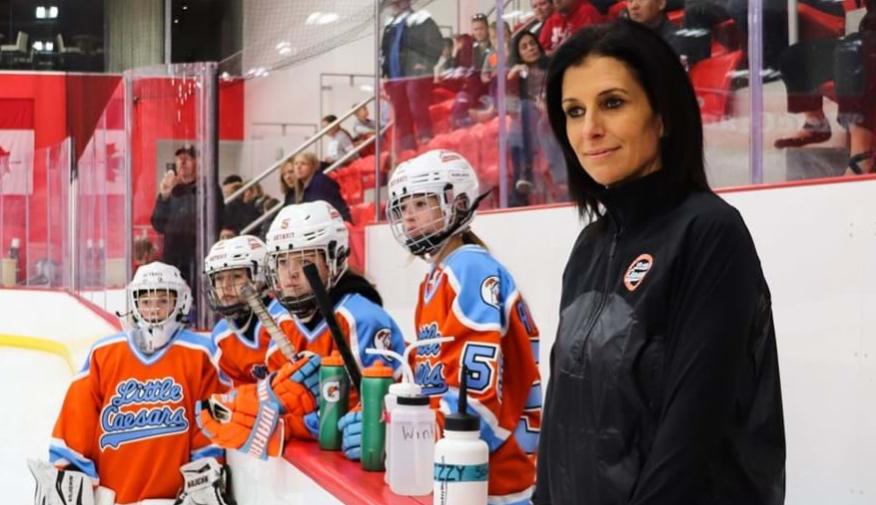 Manon Rhéaume was on hand at an event in Detroit ©IIHF