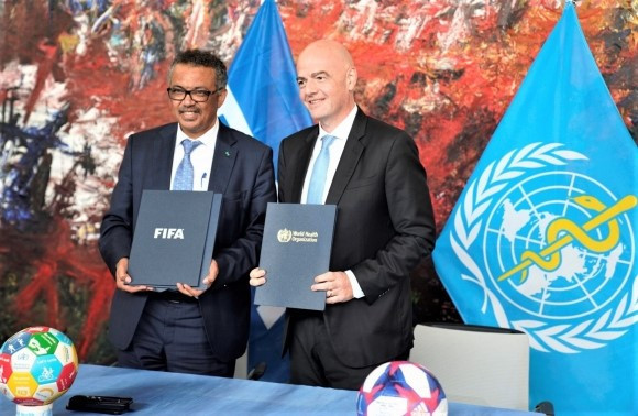 FIFA and World Health Organization sign MoU to promote healthy living