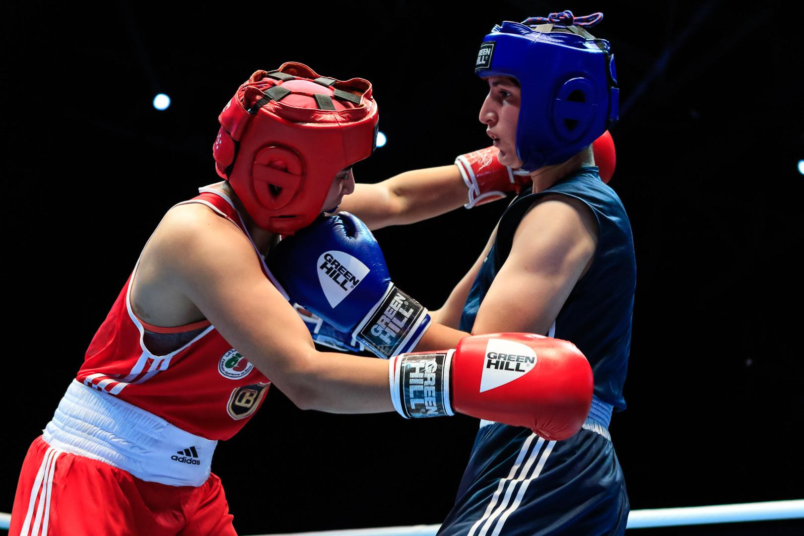 She edged past Chahira Selmouni of Algeria 3-2 to do so ©AIBA
