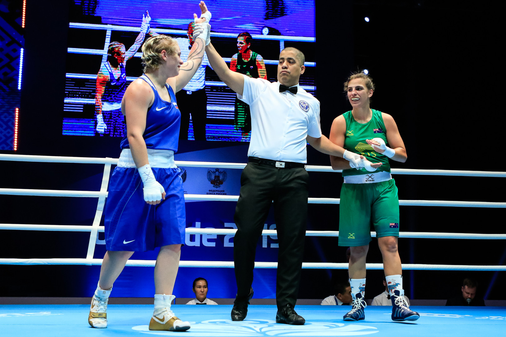 Dynnik was given a unanimous victory ©AIBA