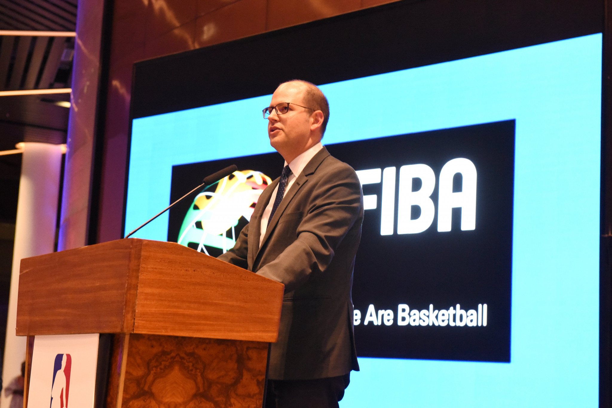 FIBA secretary general Andreas Zagklis said the world governing body is happy to see the IWBF embrace the technology ©Getty Images