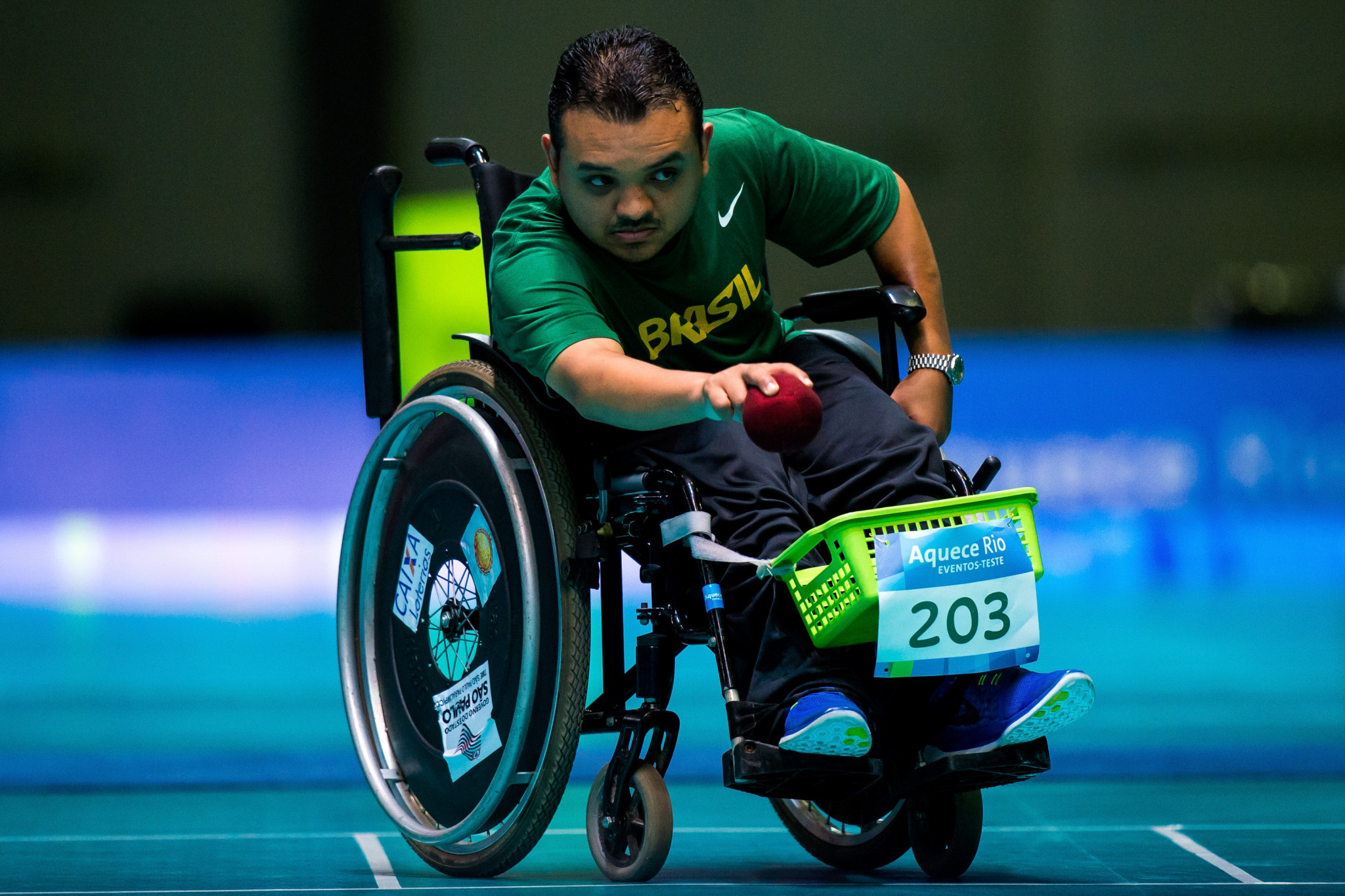 Brazil's Maciel Santos was among the other winners at the Boccia America Regional Championships ©Getty Images