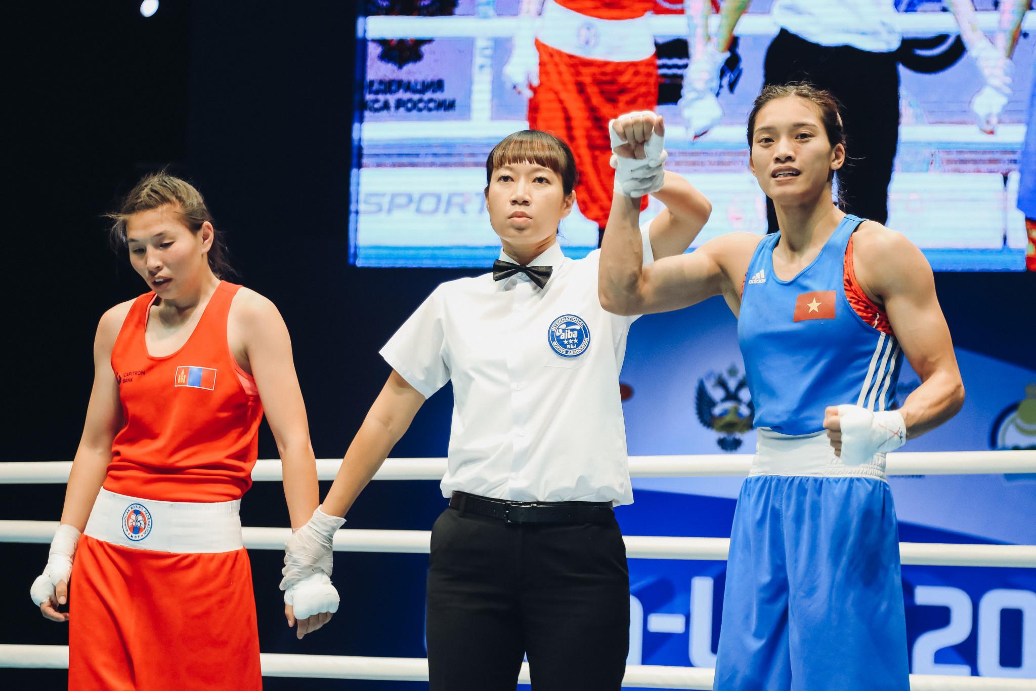 Nguyen defeated Allantsetseg Lutsaikhan unanimously ©AIBA