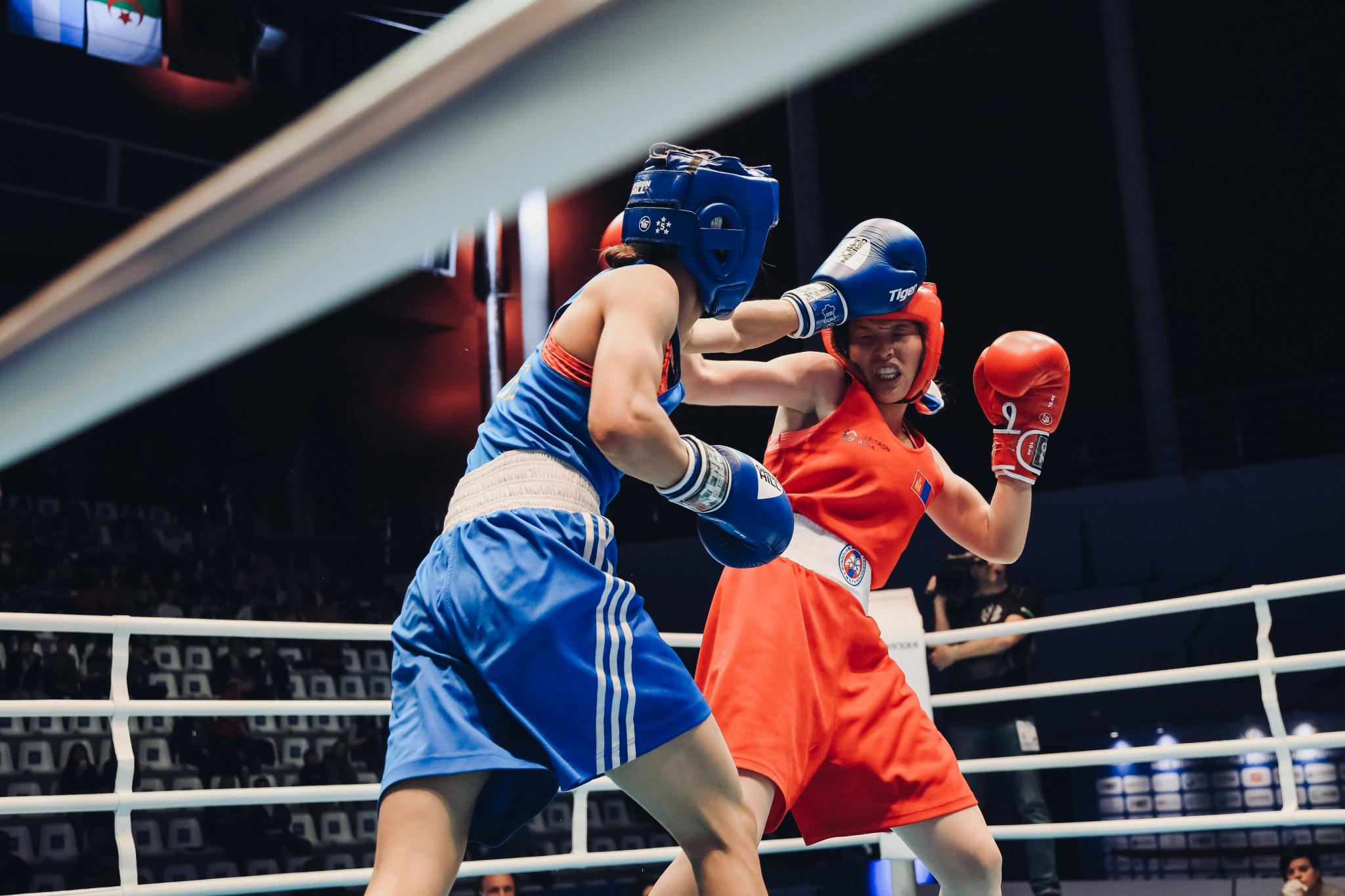 She came up against Allantsetseg Lutsaikhan of Mongolia ©AIBA