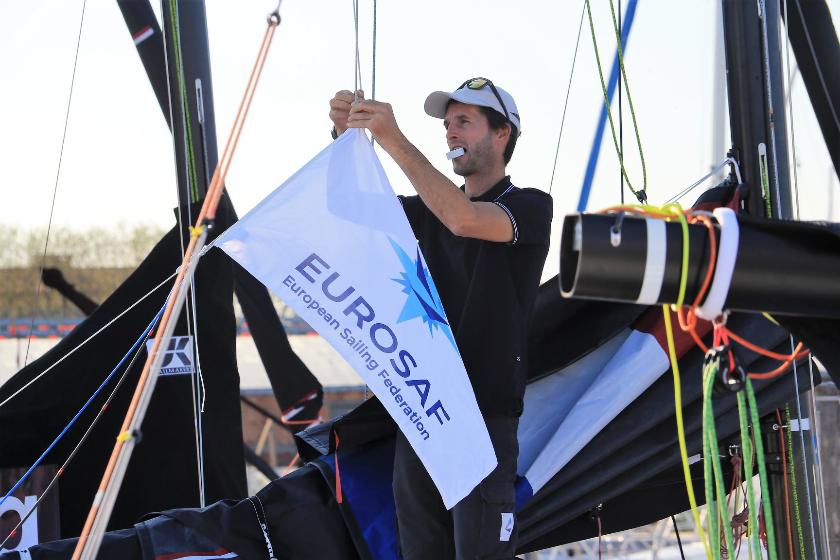 The in-port race on the opening day of the European Sailing Federation Mixed Offshore European Championship in Venice was cancelled due to poor weather conditions ©EUROSAF