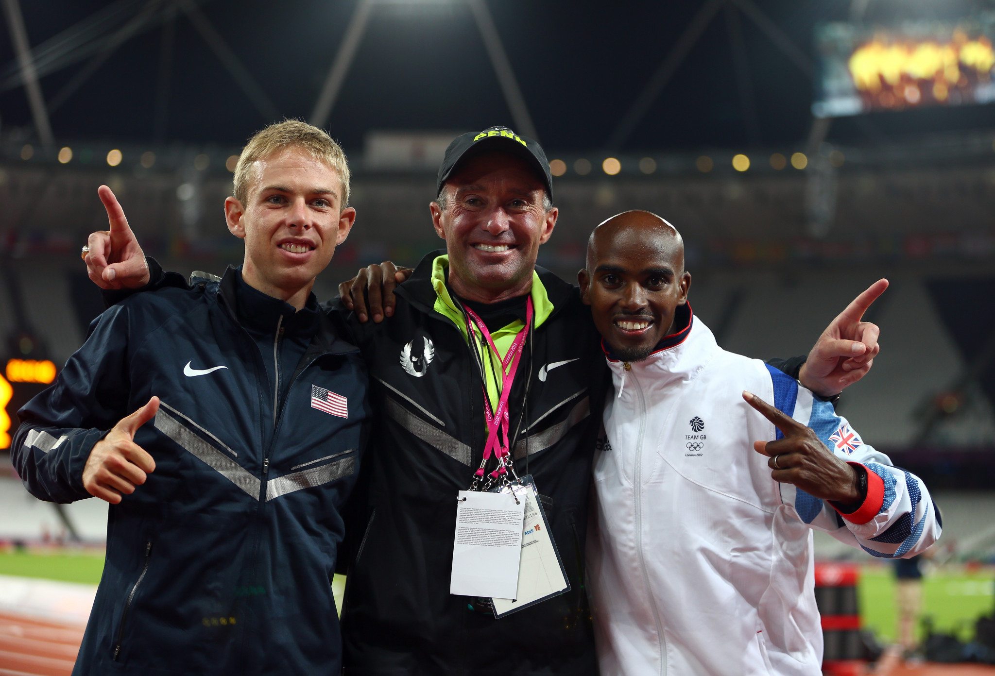 Uncomfortable questions about Alberto Salazar, centre, are still to be answered ©Getty Images