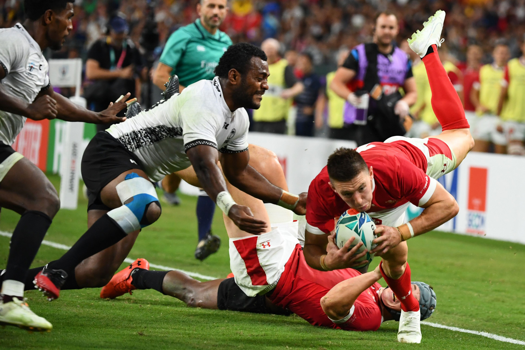 Josh Adams was heroic for Wales ©Getty Images