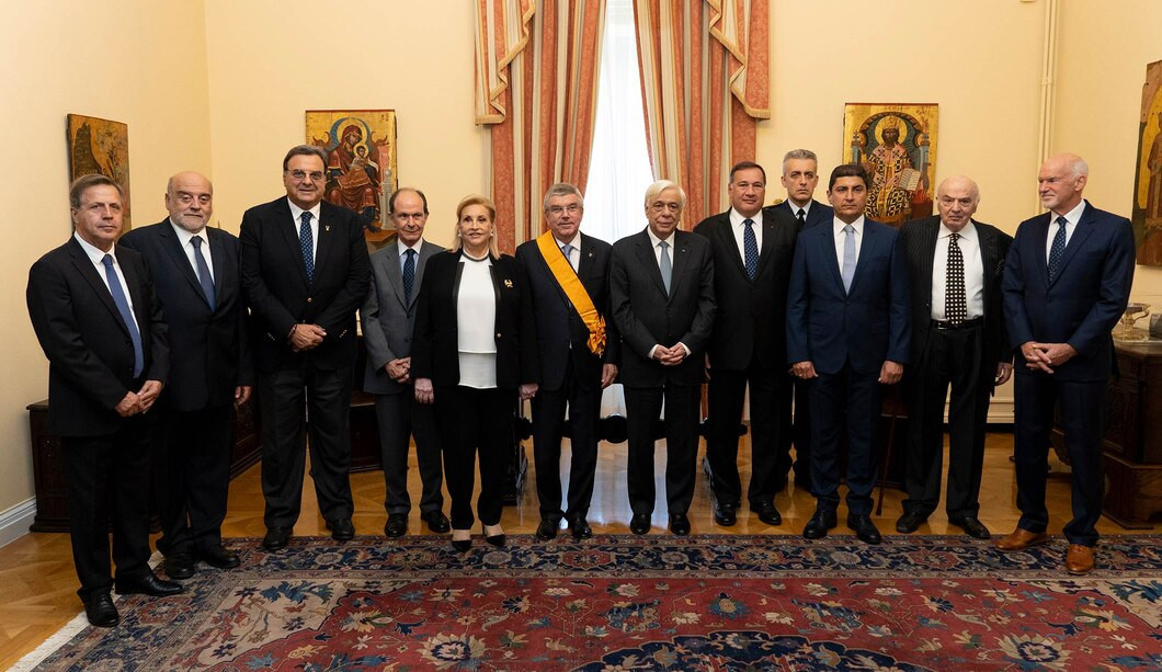 The ceremony took place at the Presidential Mansion in Athens ©IOC/Greg Martin