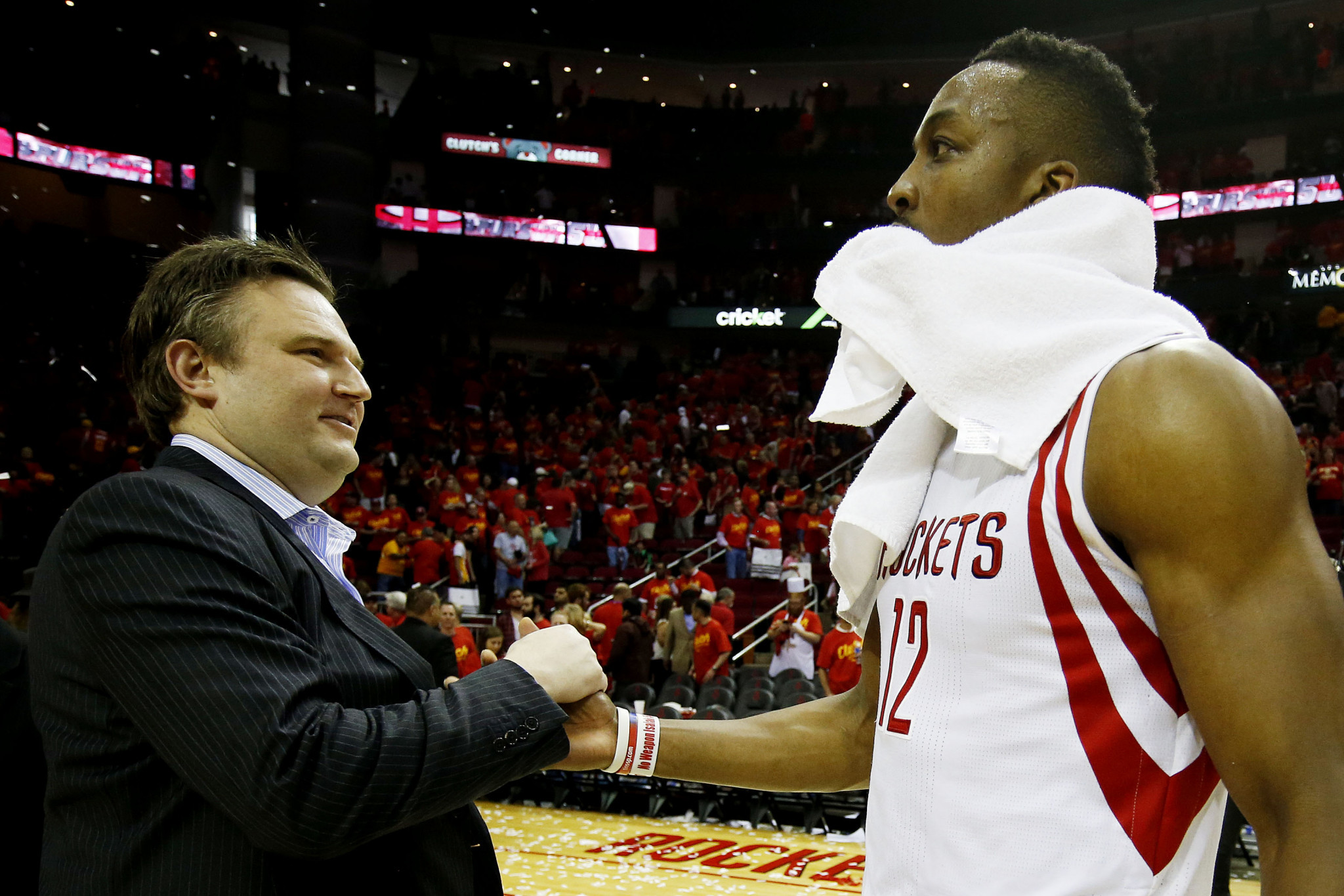 Daryl Morey, left, has somewhat compromised the Houston Rockets ©Getty Images