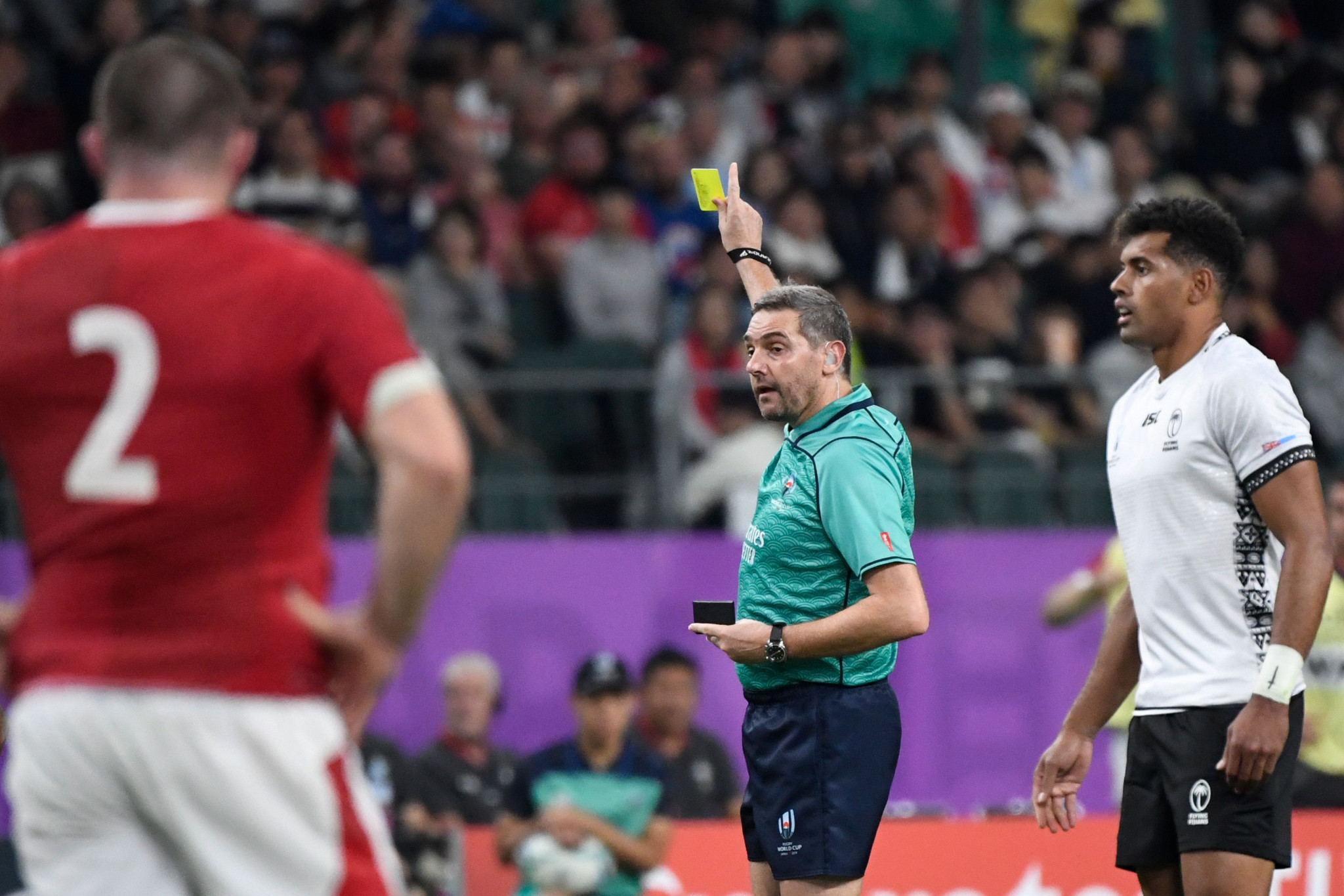 French referee Jerome Garces was a busy man, but allowed the game to flow ©Getty Images