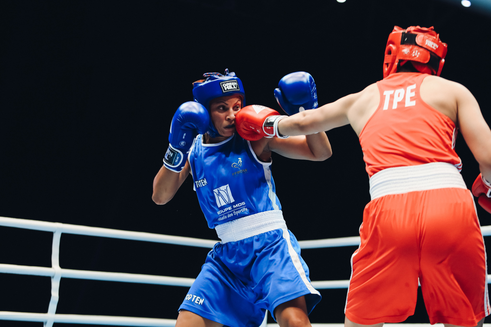 Compatriot and welterweight top seed, Chen Nien-Chin, was competing against Emilie Sonvico of France ©AIBA