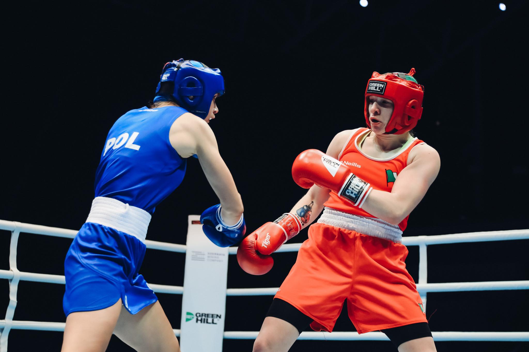 Another unanimous winner was Ireland's Amy Broadhurst against Aneta Rygielska of Poland ©AIBA
