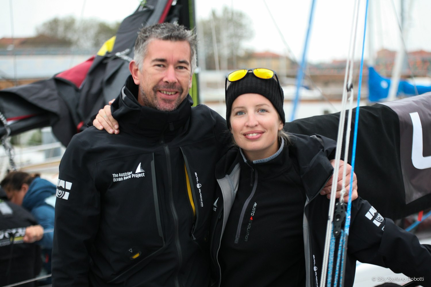 Austrian duo Lisa Berger and Christian Kargl were the first crew to arrive in Trieste ©EUROSAF