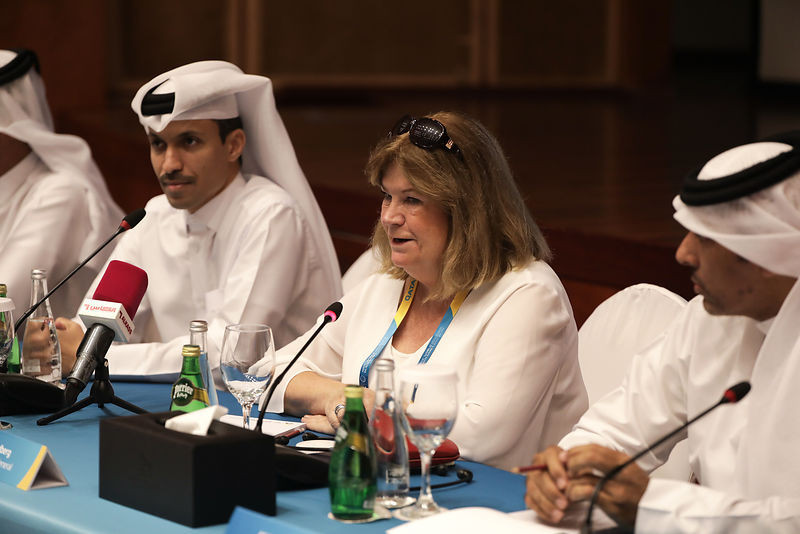 ANOC World Beach Games general director Jaseem Rashid Al-Buenain, pictured left, is confident no special measures are needed to attract crowds to the impending ANOC World Beach Games ©Doha 2019