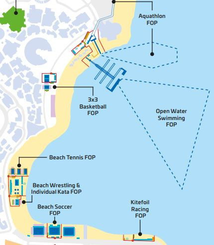 Katara Beach, the most central of four venues for the inaugural ANOC World Beach Games that start in Doha tomorrow, is a popular gathering place for local families ©ANOC