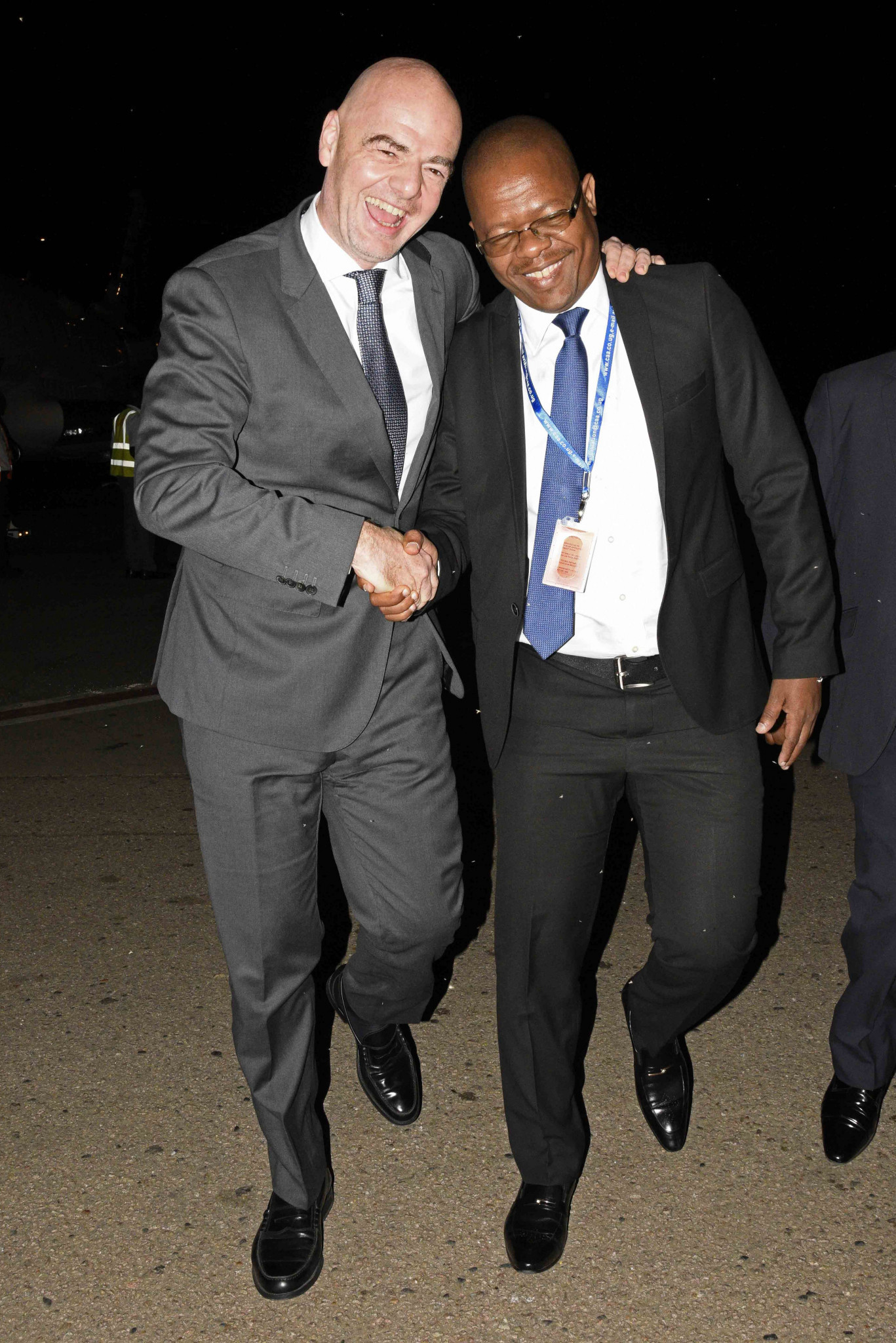 Moses Hassim Magogo with FIFA President Gianni Infantino ©Getty Images