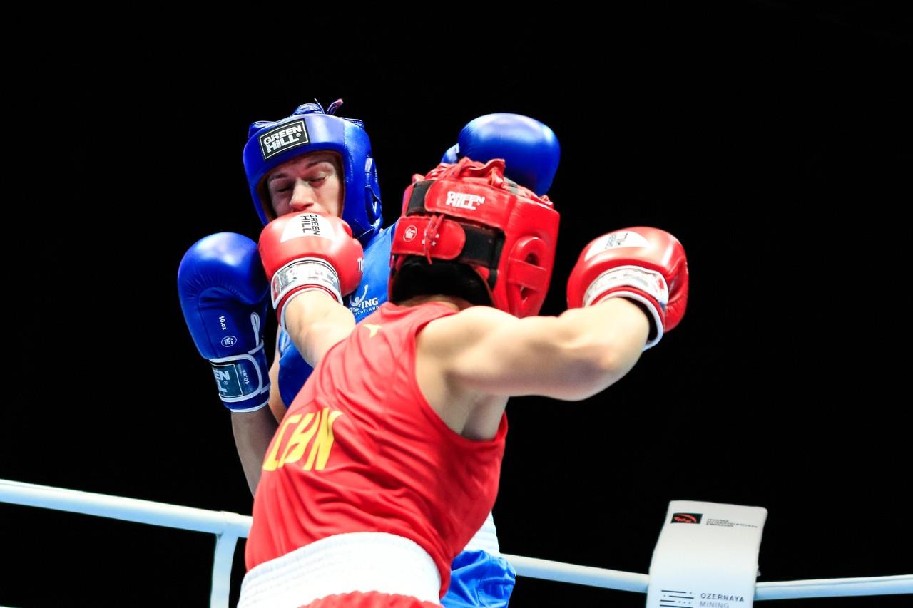 Light welterweight top seed, Dou Dan of China, defeated Megan Reid of Scotland. ©AIBA