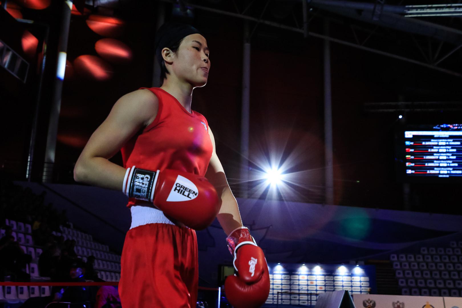 Pang Chol Mi of North Korea progressed in the flyweight division ©AIBA