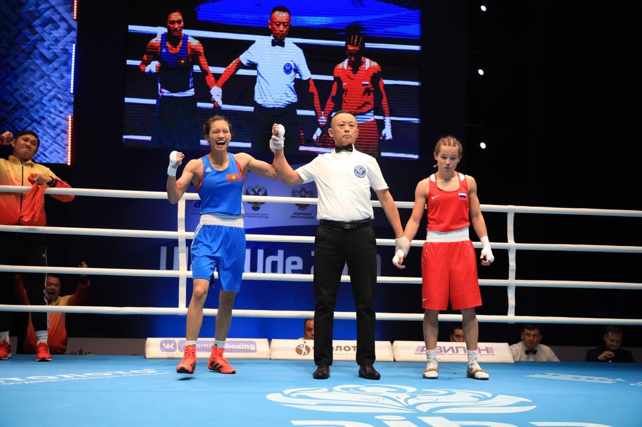 Flyweight fourth seed Thi Tam Nguyen of Vietnam had won against Russia's Liliya Aetbaeva, but this was later overturned ©AIBA