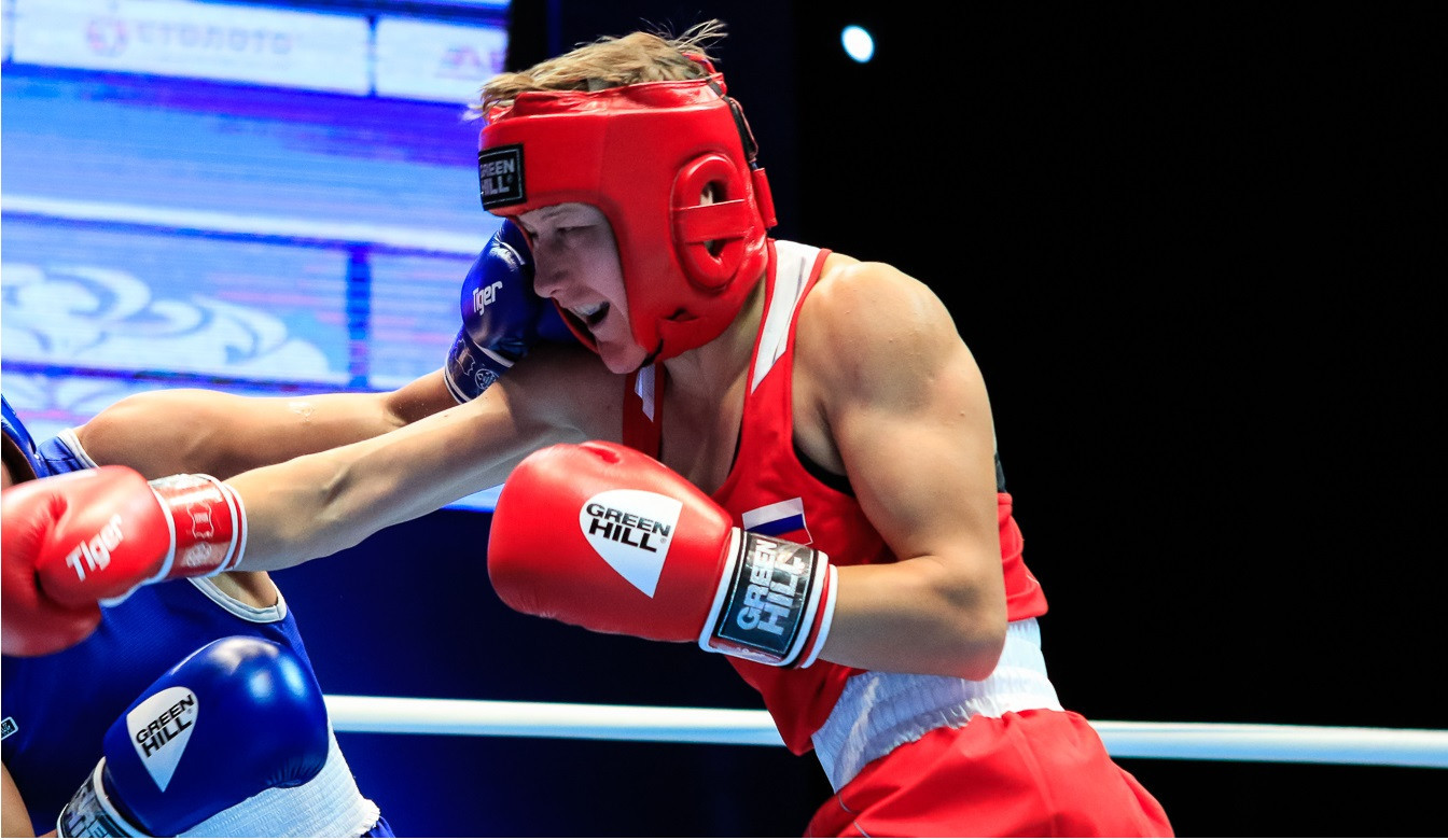 Local boxer Natalia Shadrina could not emulate the achievements of her compatriots, however, exiting the tournament ©AIBA