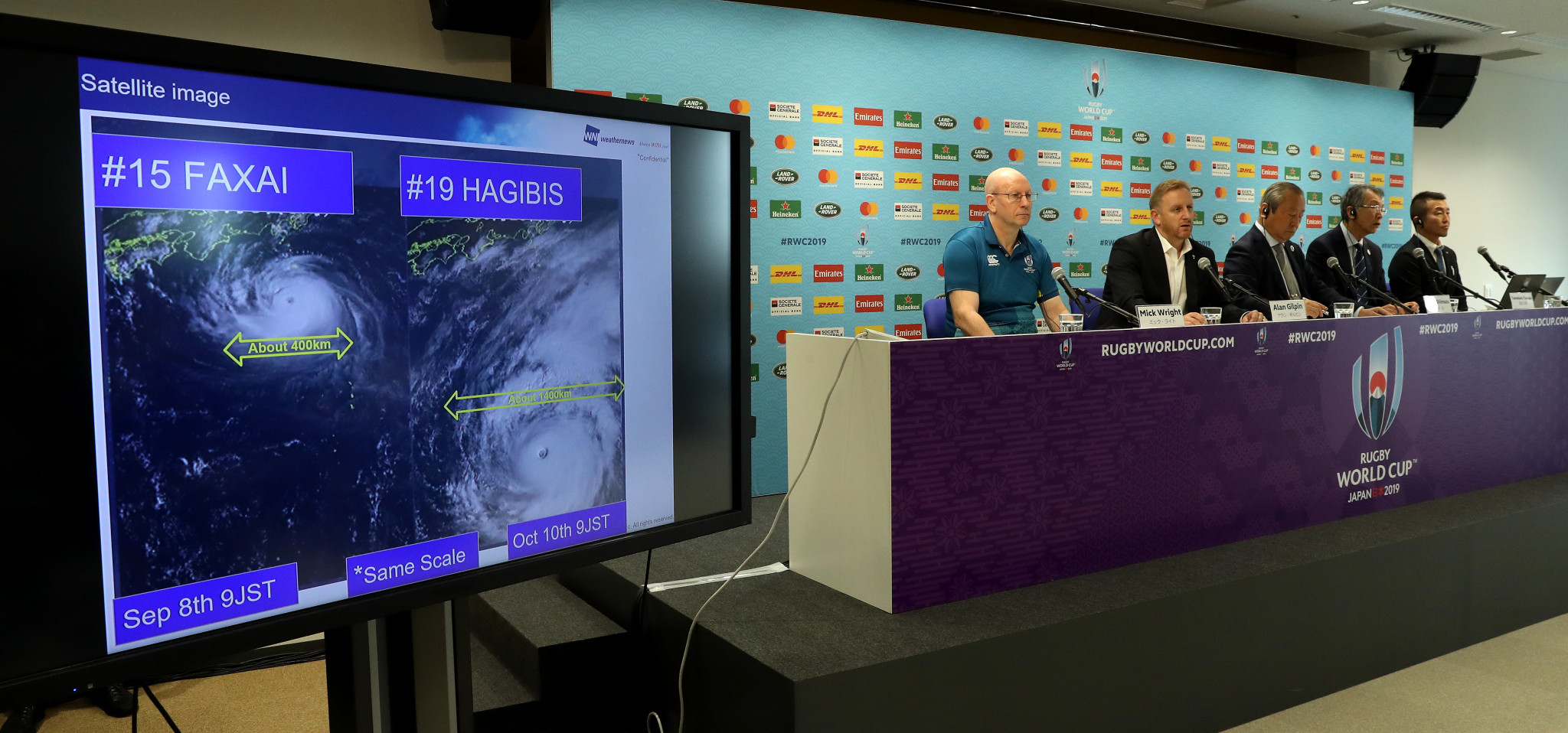 Typhoon Hagibis has been a major headache for Rugby World Cup organisers ©Getty Images