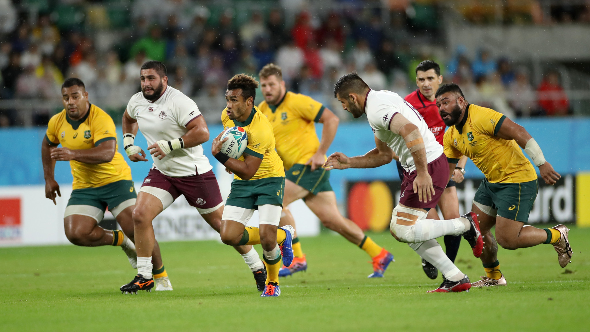 Will Genia was delighted to score in his final World Cup ©Getty Images