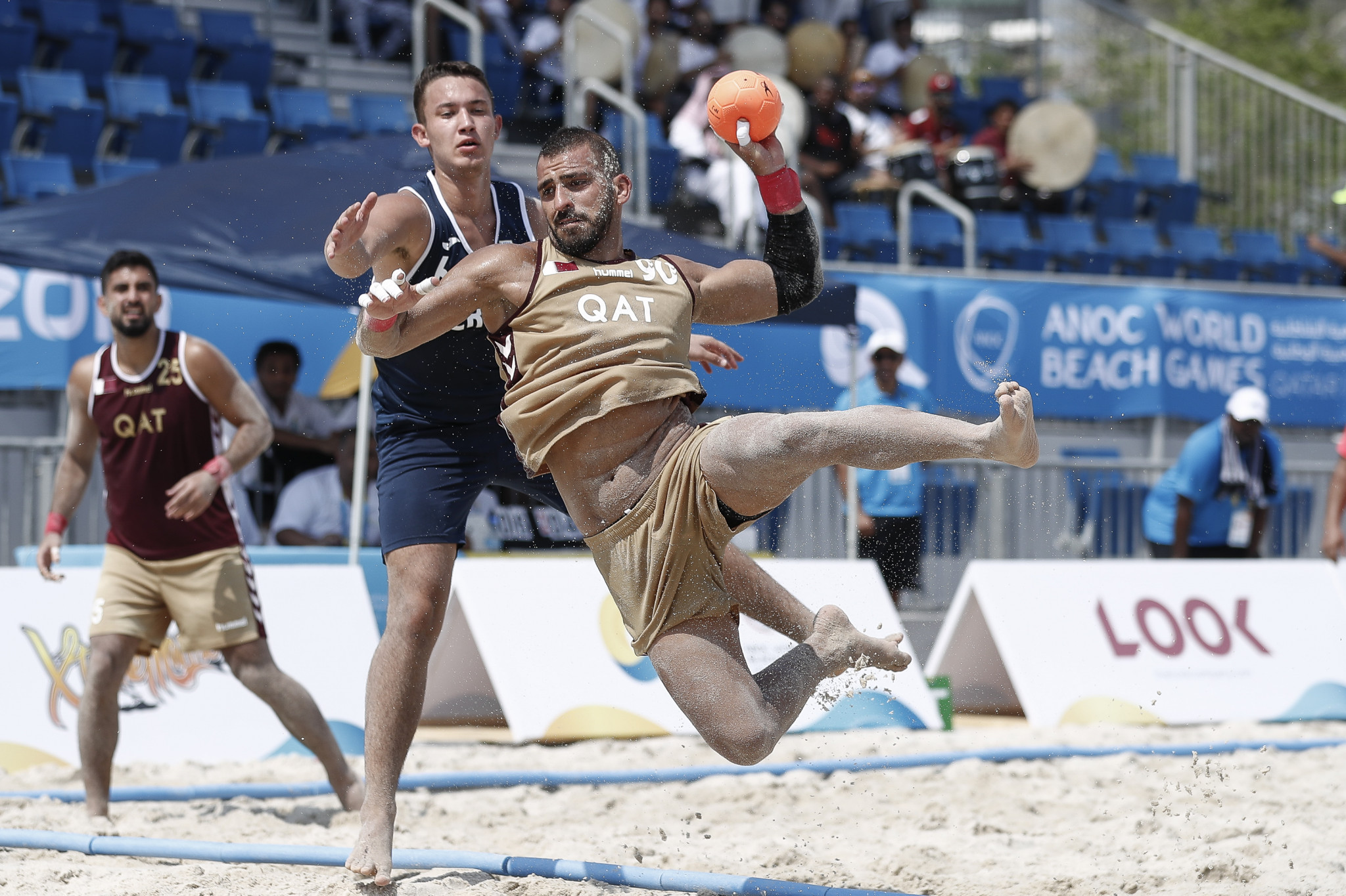 Qatar's men impressed on home sand with a pair of victories ©ANOC