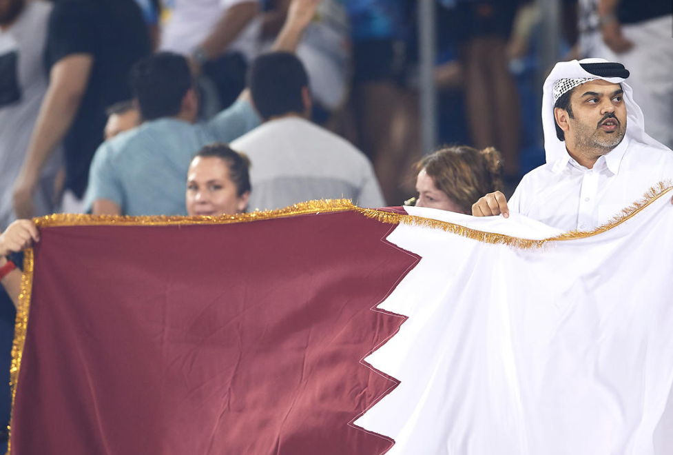 Local fans showed their support for Qatar ©ANOC