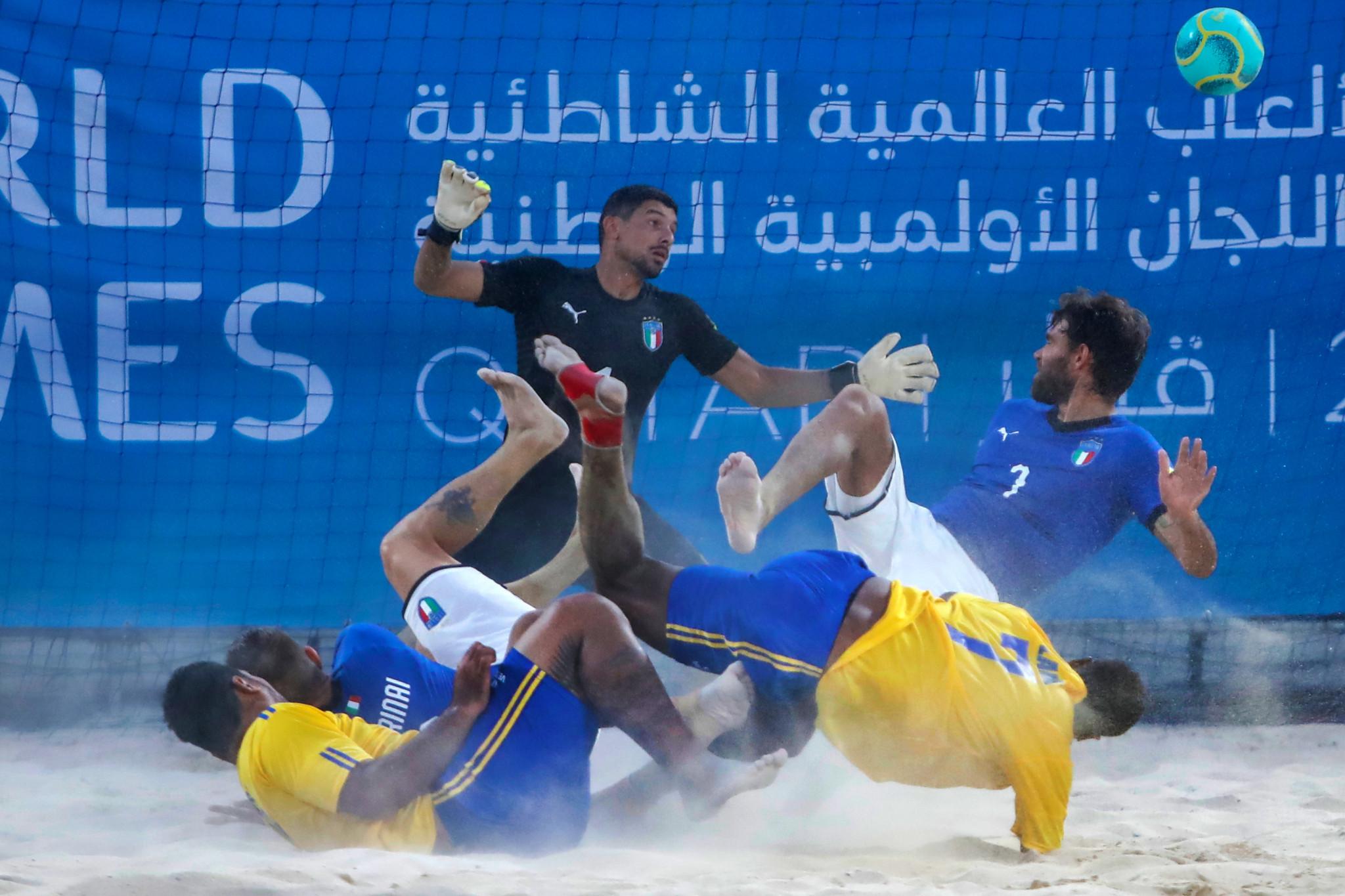 Beach soccer is being played at Katara Beach ©ANOC
