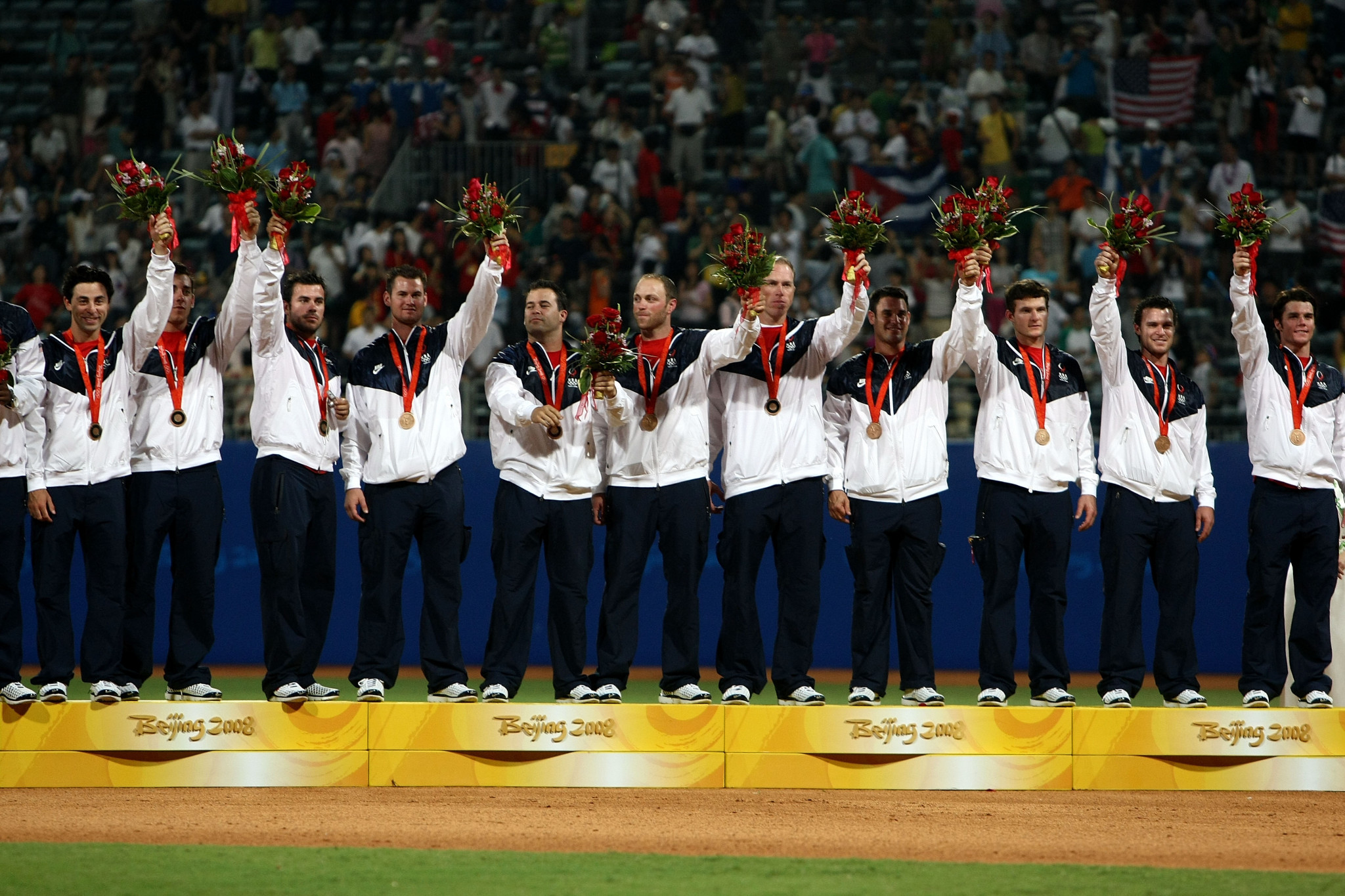 The United States finished with bronze in the baseball competition at the Beijing 2008 Olympics ©Getty Images