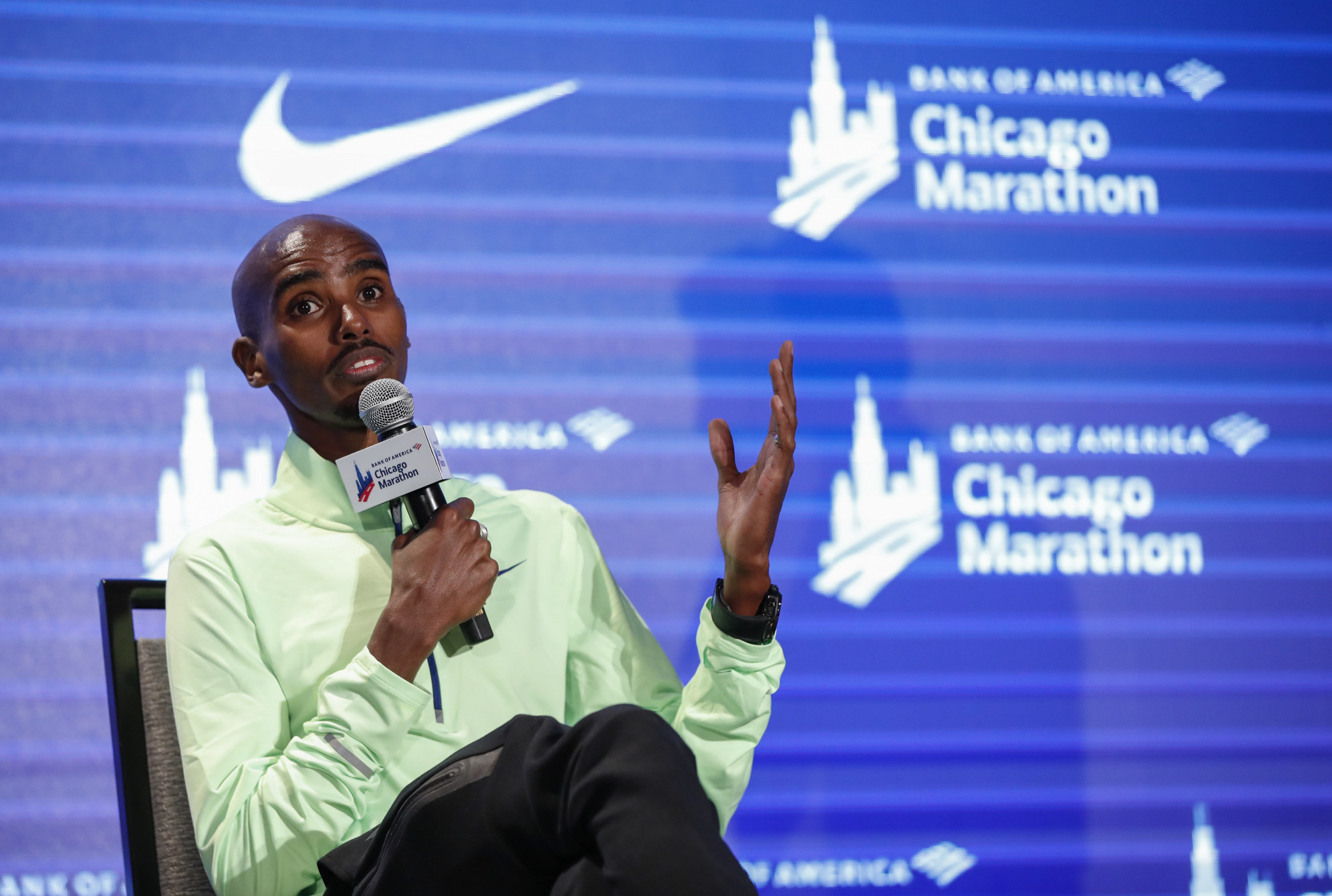 Sir Mo and Rupp faces Salazar-related questions on eve of Chicago Marathon