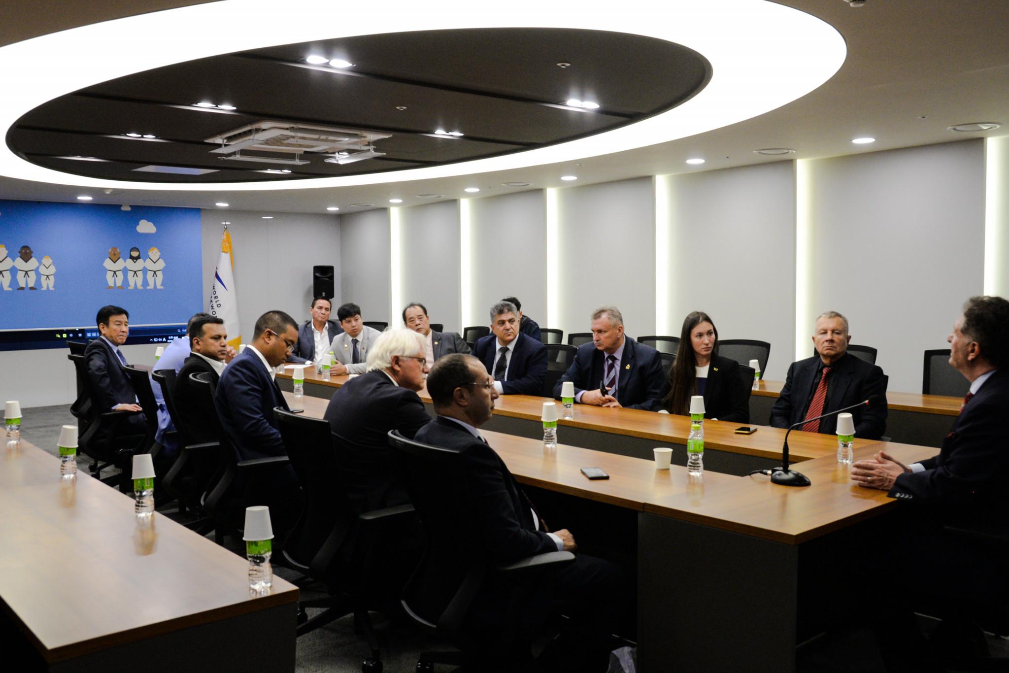 The visiting delegation met with World Taekwondo secretary general Hoss Rafaty ©World Taekwondo