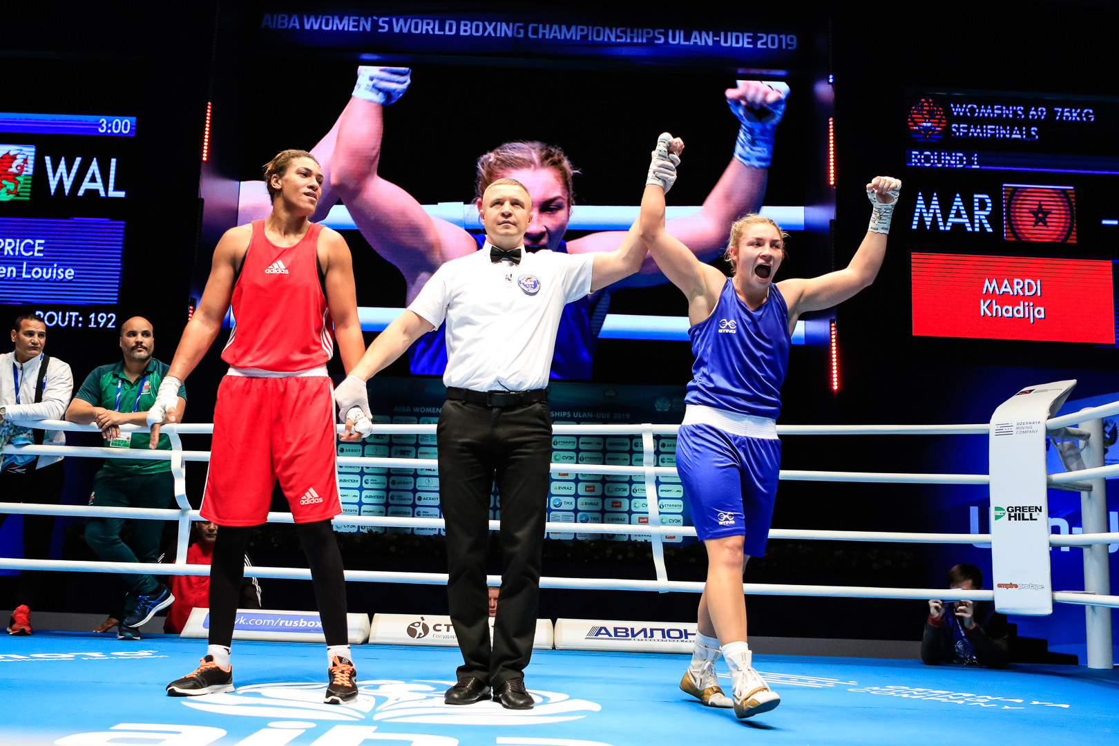 Her opponent will be Welsh Commonwealth champion Lauren Price, a unanimous winner over Khadija Mardi of Morocco ©AIBA