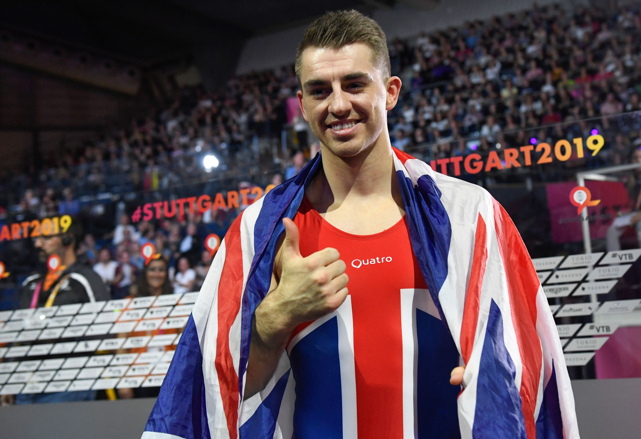 It was yet another special night for Britain's Max Whitlock ©Getty Images
