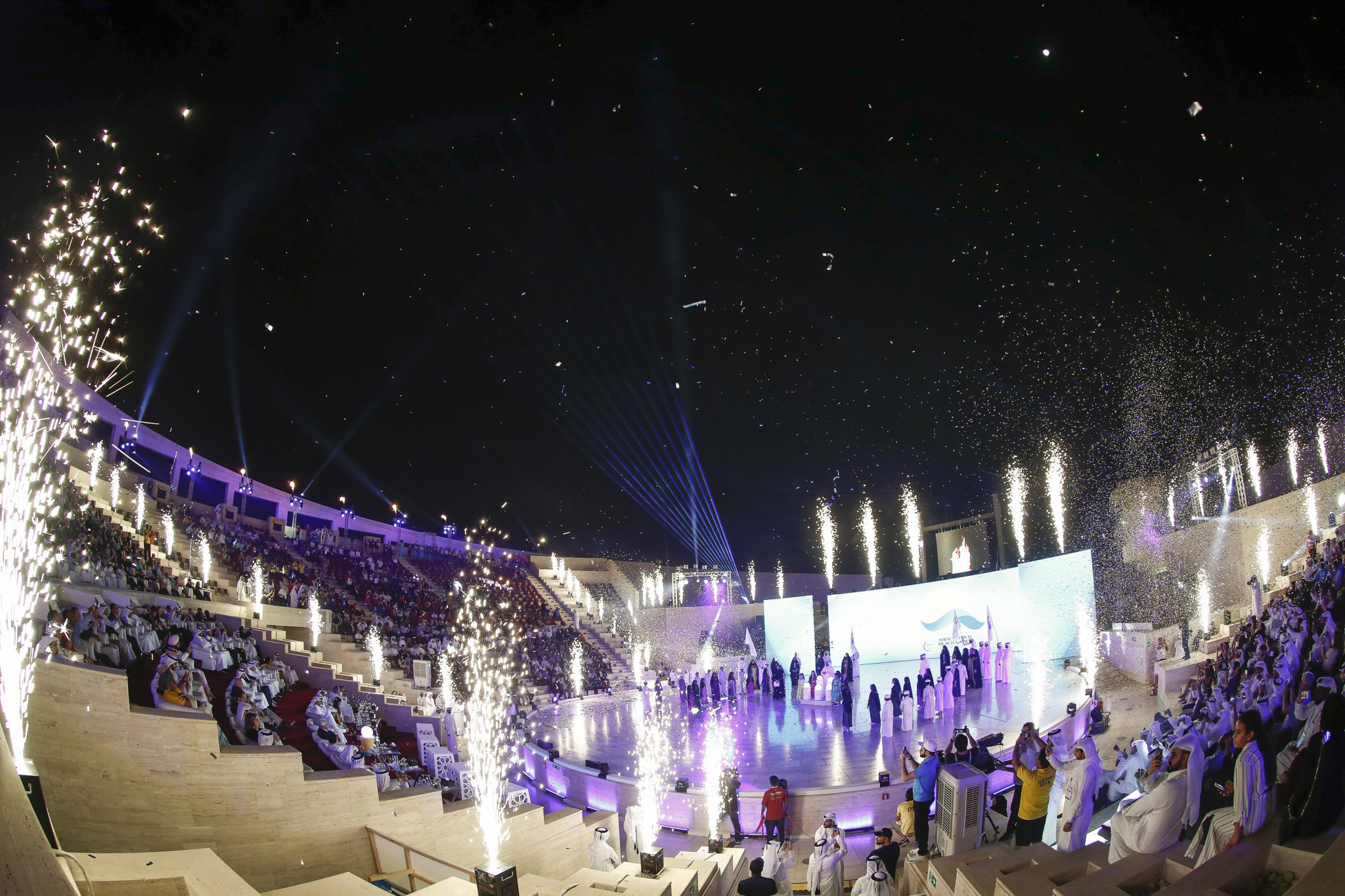 First ANOC World Beach Games opened with short but classic Ceremony