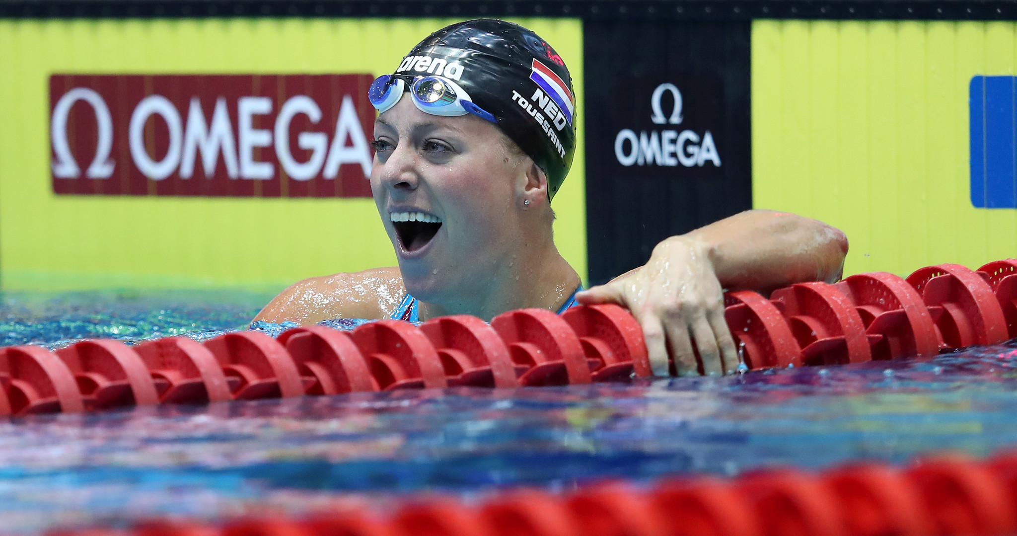 Dutch swimmer Kira Toussaint won the women's 100m backstroke to deny Katinka Hosszú ©Getty Images