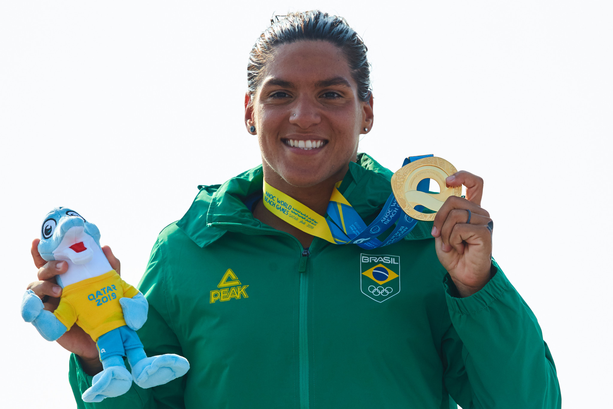Brazil's Ana De Jesus Soares added ANOC World Beach Games gold to the one she had won at the Pan American Games earlier this year ©ANOC World Beach Games
