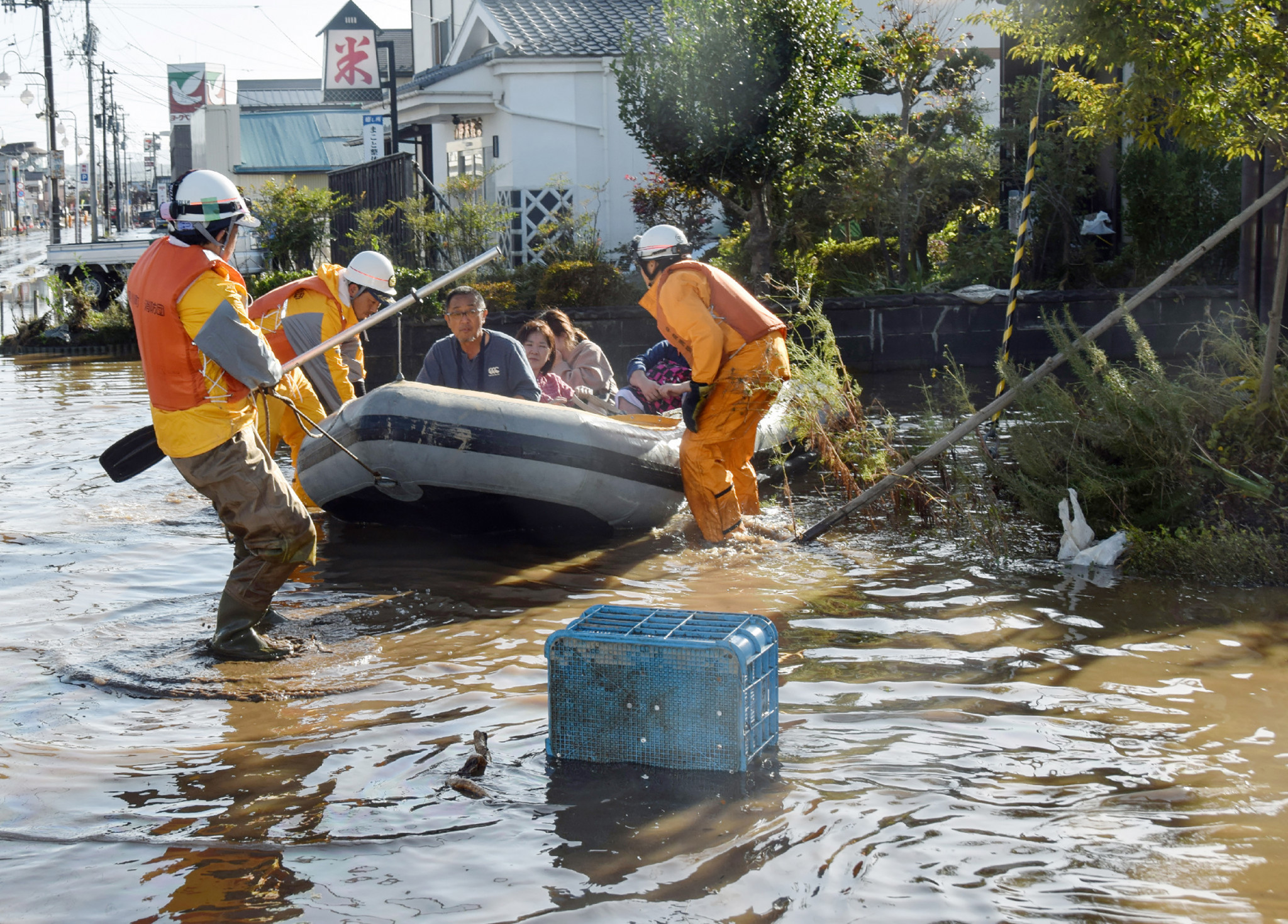 The rescue operation has begun in Japan following Typhoon Hagibis passing over the country ©Getty Images