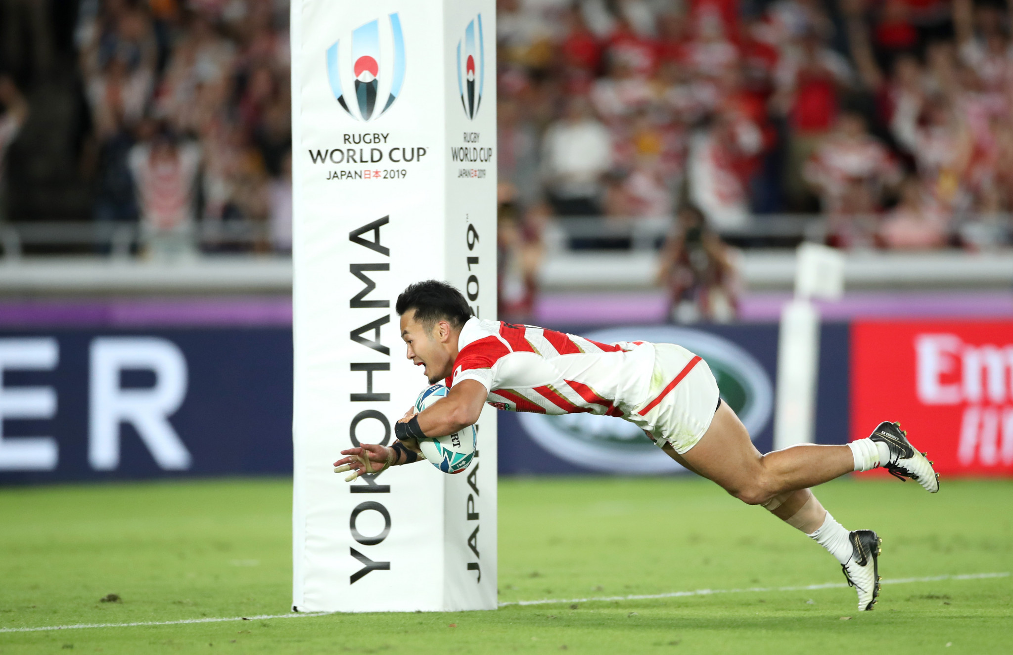 Kenki Fukuoka scored two tries as Japan defeated Scotland 28-21 in Yokohama ©Getty Images