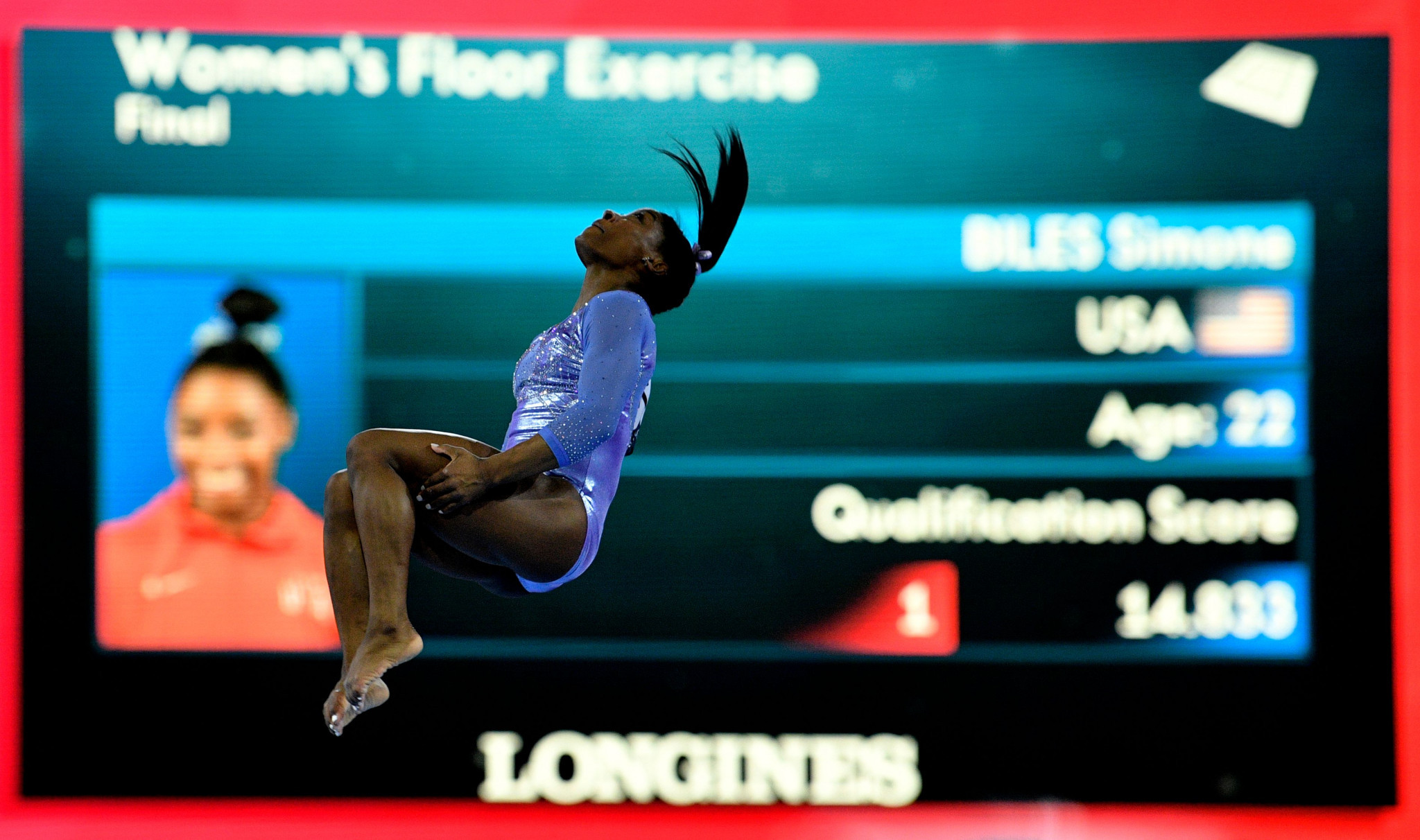 Simone Biles triumphed in the balance beam and floor finals ©Getty Images