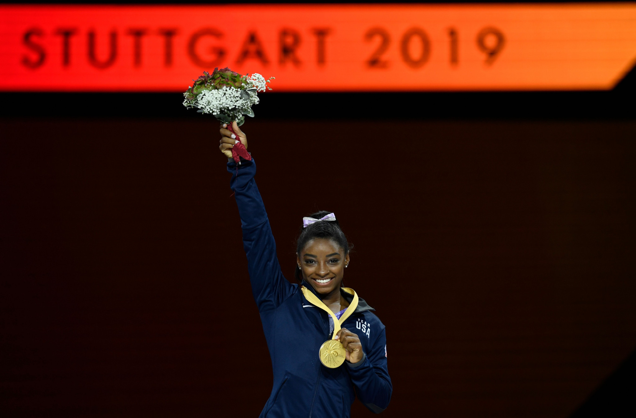 America's Simone Biles ended the World Gymnastics Championships with a further two gold medals ©Getty Images
