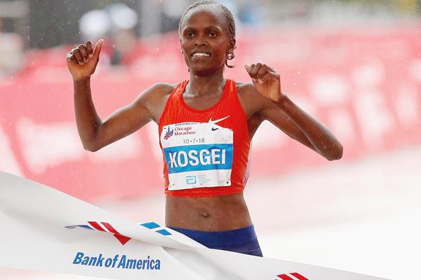 Kosgei takes more than a minute off Radcliffe's world record in retaining Chicago Marathon title