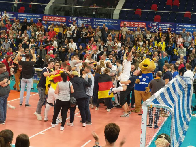 Germany's men clinch maiden title at IBSA Goalball European Championships