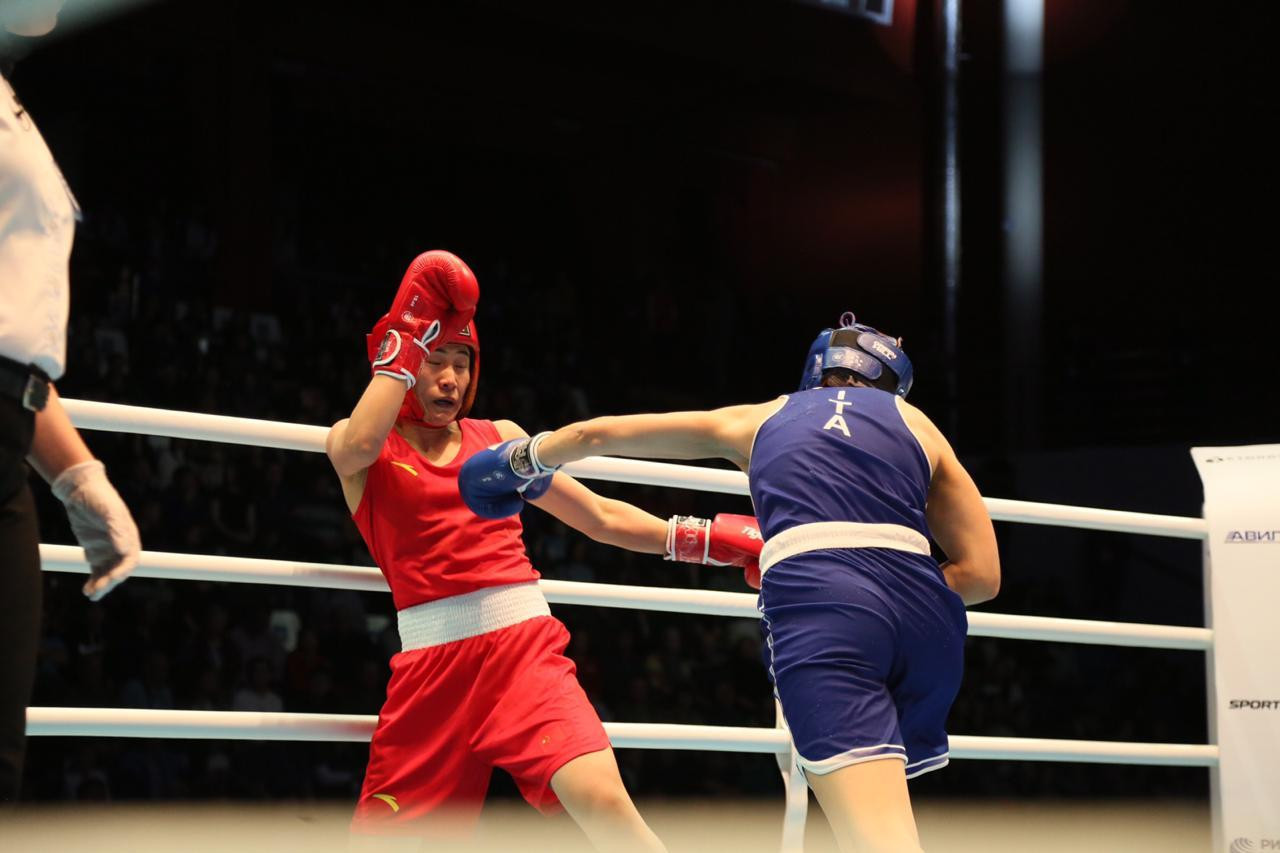 China came second in the medal table, helped by Dou Dan's 5-0 win against Angela Carini of Italy ©AIBA