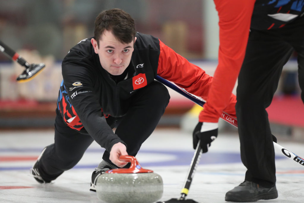 Action continued on the second day of the World Mixed Curling Championship in Aberdeen ©WCF