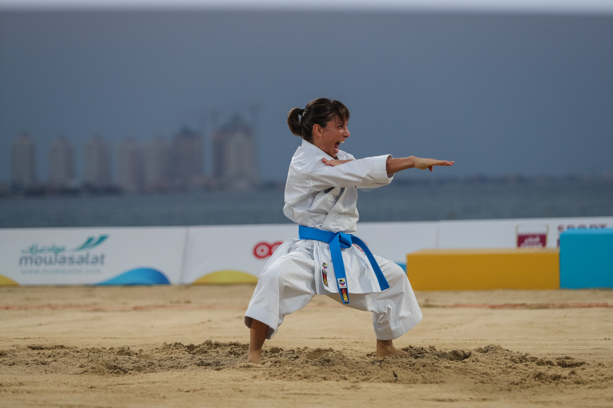Spain celebrate double karate gold at ANOC World Beach Games