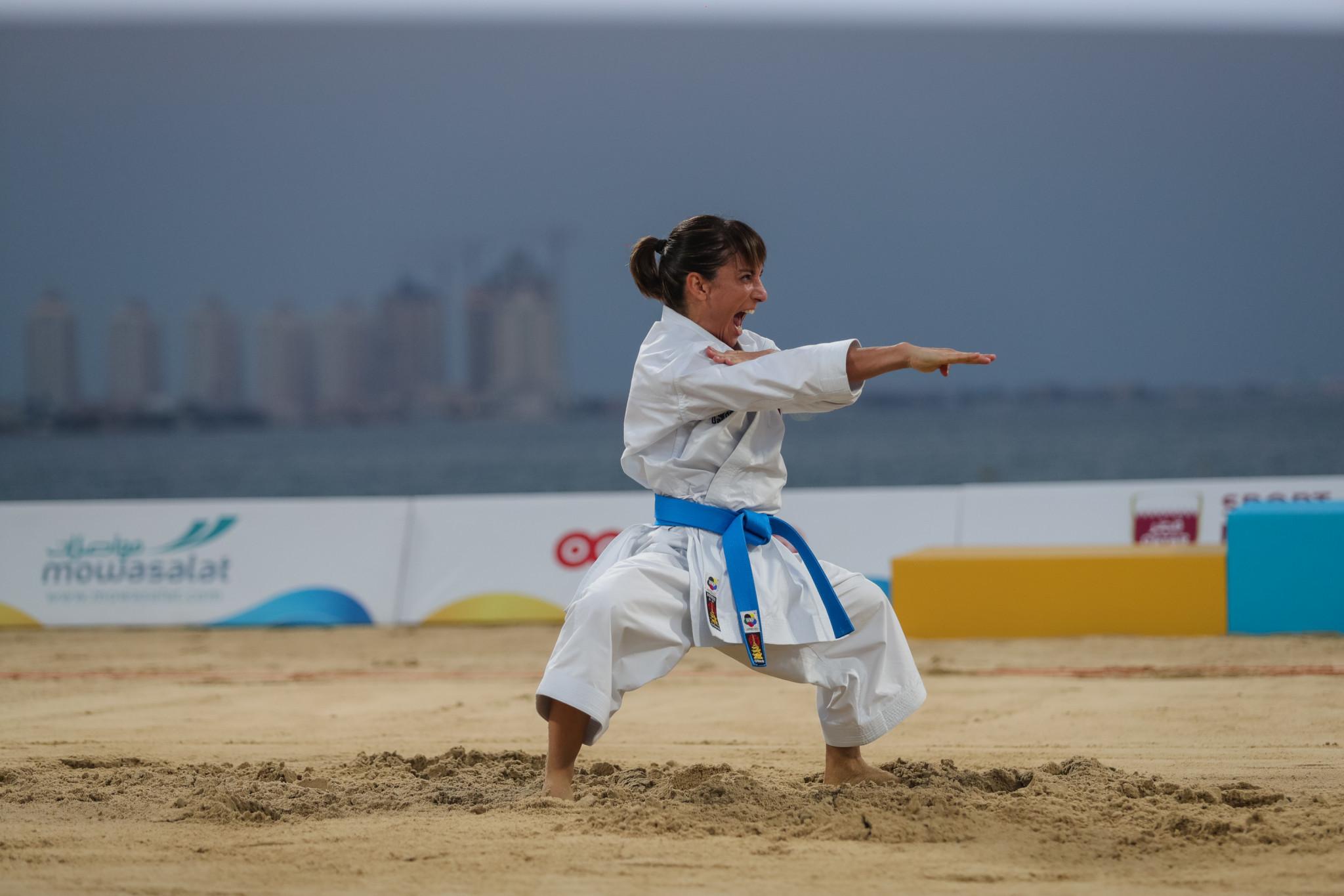 Sandra Sanchez won the women's kata for Spain ©ANOC
