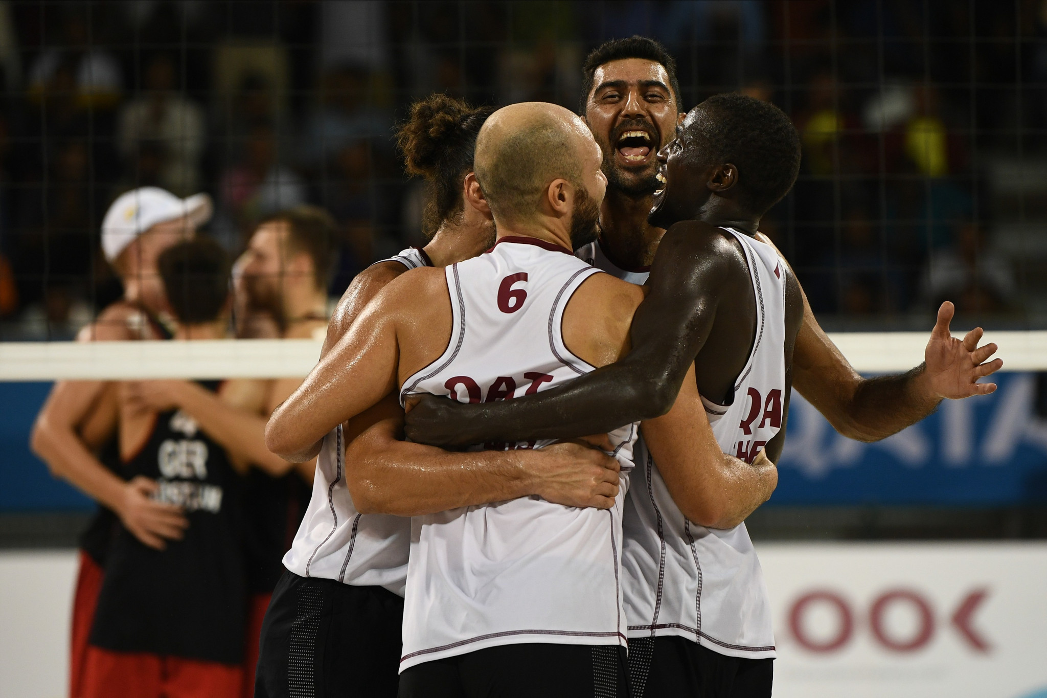Hosts Qatar saw action in the 4x4 volleyball ©ANOC