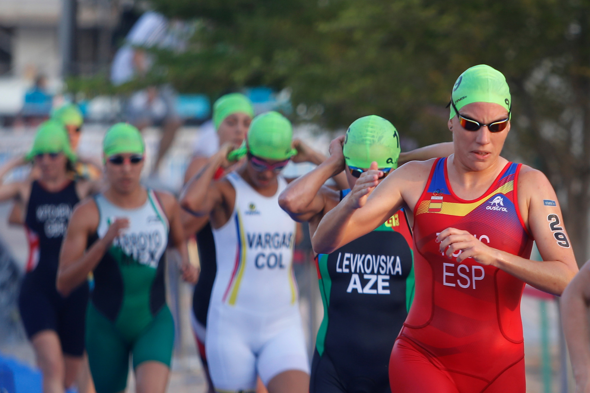 Francisca Tous was always in control of the women's race as she made it another Spanish double in Doha ©ANOC World Beach Games